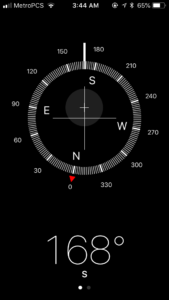 Sirius - iPhone compass app pointed exactly at center of star.